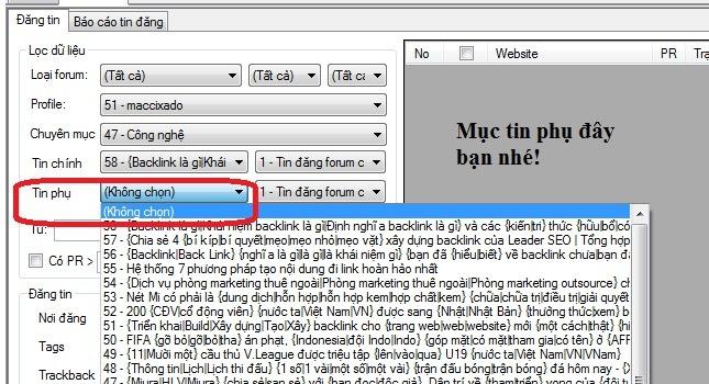 Tin đăng phụ với phần mềm SEO VFP giúp tăng tỷ lệ bài đăng thành công
